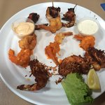 Shrimp sampler appetizer