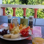 Breakfast in the veranda upstairs