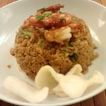 arroz frito con gambas