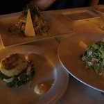 We loved the crab cake on a bed of crunch greens and the Boston Lobster salad was good, too!