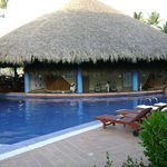 The swim up Bar, right outside our room