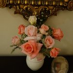 Fresh Roses from the Garden in Our Room
