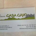 Tarjeta de Casa Cayo