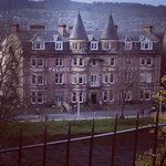 A view of a fabulous hotel in the highlands!