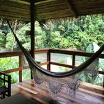 Hammock at our bungalow's porch