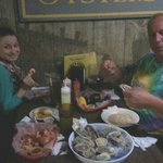Rhianna and Ed Sopko slaughter oysters, shrimp & chowder!