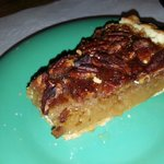 From many many desserts I chose delicious pecan pie.  There is soft see ice cream I could have a