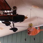 And some of the airplanes have stuffed animals riding.  Fun for entire family to see.