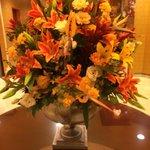 Beautiful lobby flowers