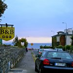 Just outside the B&B looking down the street to Galway Bay and the Salthill Promenade