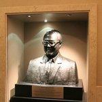 Statue opposite the elevators
