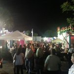 Front of Bourbon Street during Pineapple Festival