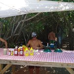 Buck Island: Barbecue after snorkeling