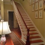 Gorgeous staircase at the Terrell House in the foyer