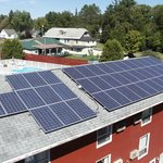 Saving energy with our solar panels!