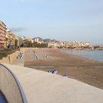 One of Benidorm's beaches