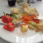 Lovely salads at the hotel and great selection of fresh breads