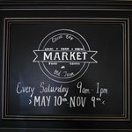 Sign for Ellicott City Old Town Market ... it starts May 10!