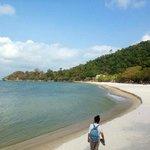 White sand beach, Kep