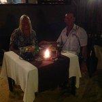 Dinner in French restaurant on the beachfront