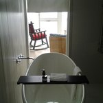 Soaker tub in Room 27 provides a great view of the North Atlantic Ocean