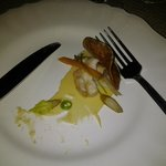 Oops, ate half before I remembered to take a picture of the cod tongue appetizer Fogo Island Inn