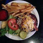 Nice bacon cheeseburger