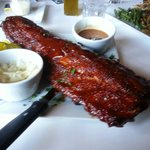 Hugh Slab Baby Back Ribs! Extra thick with a spicy Bbq sauce! Share!