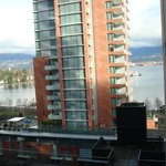 view of Vancouver harbor from corner suite