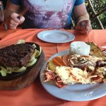 Steak (NZ rib eye) and Lobster meal