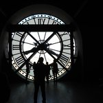 Behind the clock