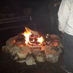 fire with marshmallows