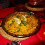 Tapas size seafood Paella