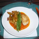 Crab stuffed red snapper