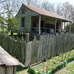Slave quarters. At one time over 200 slaves were owned and worked on these grounds.