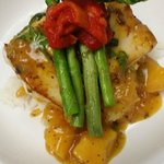 Zesty Basil Tropical Mahi Mahi with Warm Mango Chutney, Jasmine Rice, & Chef's Veggies