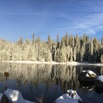The lake in snow