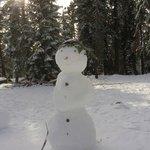 Snow Woman:) Kids had so much fun making this.