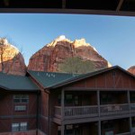 View from back balcony Zion Lodge March 2014