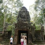 The entrance tower in the Bayon style