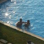 Friends in Pool
