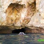Diving under Gato Island