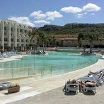 Spring time, by the pool at Seabank hotel all inclusive. Great experience good value for money.
