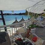 la plage ( vue de la piscine