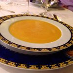Delicious carrot-cream soup