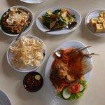 Dishes at Sindang Reret Restaurant, Cikole