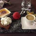Cafe gourmand plate
