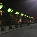 night time in smithfield square
