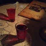 Shots de vodka cranberry