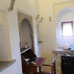 Desk area entry room